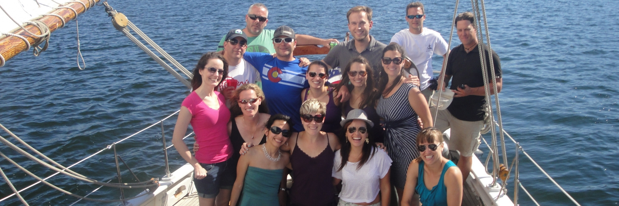 Southern Explorations team on a sail boat