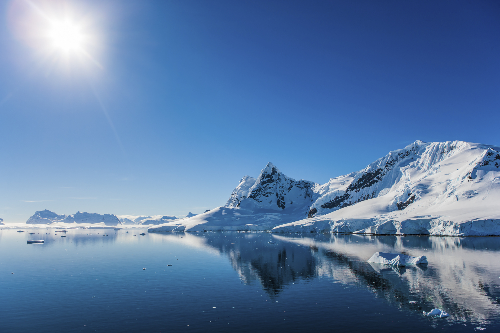 Antarctica is home to the world's grandest icebergs.